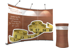 trade show banner stand case table exalt
