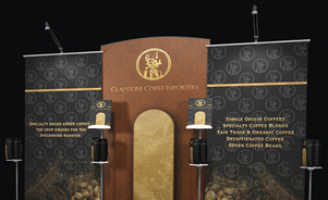 trade show banner stand myriad arched panel