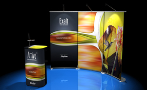 trade show events exhibits bannerstand arrive curved