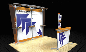 trade show display backwalls and towers - skyline Tube Ultra®
