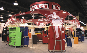 trade show events exhibits tube system graphics