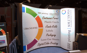 trade show events exhibits mirage backlit