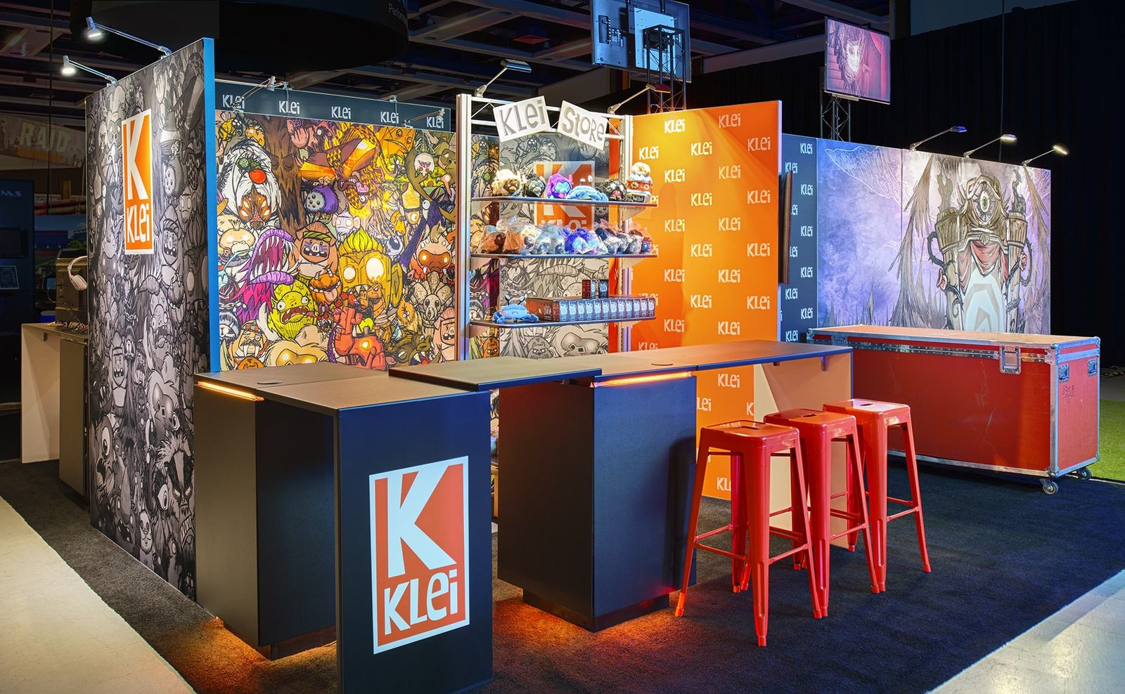 Nice Klei Entertainment Trade Show Exhibit Graphics